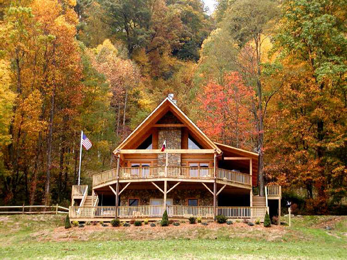 springs four cabin cabins hot exterior hots rentals sleeps nc treehouse rental view